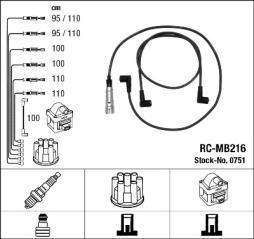 Zündleitungssatz NGK (0751), MERCEDES-BENZ, S-Klasse, SL, S-Klasse Coupe, SL Coupe