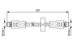 Bremsschlauch BOSCH (1 987 481 591), AUDI, A6 Avant, Allroad