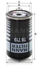 Lufttrocknerpatrone, Druckluftanlage MANN-FILTER (TB 719)