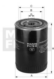 Filter, Arbeitshydraulik MANN-FILTER (W 1374/2)