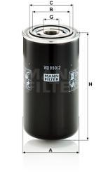 Filter, Arbeitshydraulik MANN-FILTER (WD 950/2)