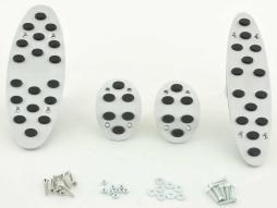 FK Alupedale Pedale Set 4-teilig Mini Cooper Schaltgetriebe Pedalcover Autopedale Gumminoppen