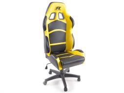 FK Sportsitz Bürodrehstuhl Cyberstar Kunstleder schwarz/gelb Drehstuhl Bürostuhl