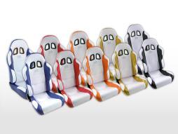 FK Sportsitze Auto Halbschalensitze Set Miami in Motorsport-Optik [verschiedene Farben]
