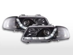 Scheinwerfer Set Daylight LED Tagfahrlicht Audi A4 B5 8D  99-01 chrom