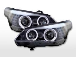 Scheinwerfer Set Xenon Angel Eyes BMW 5er E60/E61  07-10 schwarz