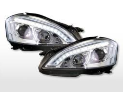 Scheinwerfer Set Xenon Daylight LED TFL-Optik Mercedes-Benz S-Klasse (221)  05-09 chrom