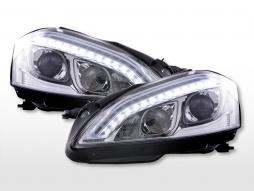 Scheinwerfer Set Daylight LED TFL-Optik Mercedes-Benz S-Klasse (221)  05-09 chrom