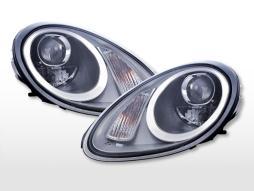 Scheinwerfer Set Xenon Daylight LED TFL-Optik Porsche Boxster (987)  04-08 silber