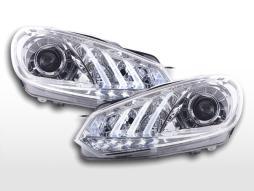 Scheinwerfer Set Daylight LED TFL-Optik VW Golf 6  08- chrom