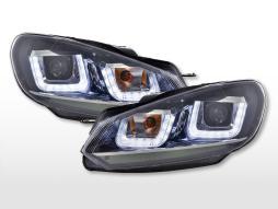Scheinwerfer Set Daylight LED Tagfahrlicht VW Golf 6  08-12 schwarz