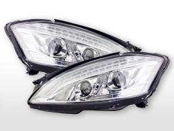 Scheinwerfer Xenon gebraucht Daylight LED TFL-Optik  Mercedes-Benz S-Klasse W221  05-09 chrom