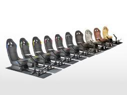 FK Gamesitz Spielsitz Rennsimulator eGaming Seats Suzuka in Kunstleder mit Teppich [verschiedene Farben]