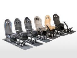 FK Gamesitz Spielsitz Rennsimulator eGaming Seats Suzuka Carbonlook mit Teppich [verschiedene Farben]