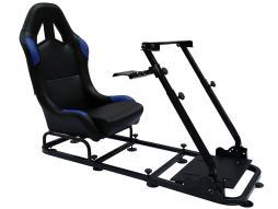 FK Gamesitz Spielsitz Rennsimulator eGaming Seats Monaco schwarz/blau schwarz/blau