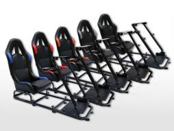 FK Gamesitz Spielsitz Rennsimulator eGaming Seats Monaco Kunstleder [verschiedene Farben]