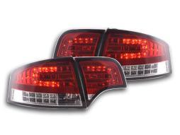 Led Rückleuchten gebraucht Audi A4 Limousine Typ 8E  04-07 rot/klar