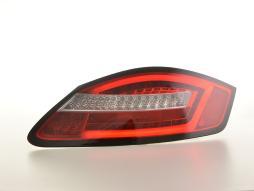 LED Rückleuchten Set Lightbar Porsche Boxster Typ 987  04-09 rot/klar