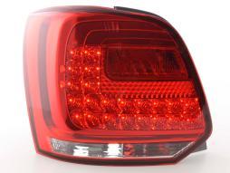 LED Rückleuchten Set VW Polo 6R  ab 2009 klar/rot