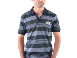 Poloshirt, Polo, Shirt, Top Modern, Klasse Design, grau gestreift Größe L