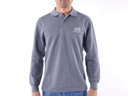 Poloshirt, Polo, Shirt, Top Modern, Klasse Design, grau Größe L