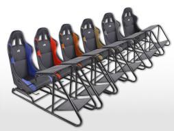 FK Gamesitz Spielsitz Rennsimulator eGaming Seats Estoril Textilgewebe/Stoff [verschiedene Farben]