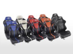 FK Sportsitze Auto Halbschalensitze Set Atlanta in Motorsport-Optik [verschiedene Farben]