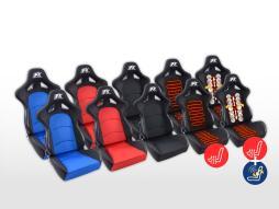 FK Sportsitze Auto Halbschalensitze Set Control in Motorsport-Optik Stoff [verschiedene Farben]