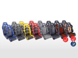 FK Sportsitze Auto Halbschalensitze Set Cyberstar Kunstleder [verschiedene Farben]