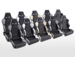 FK Sportsitze Auto Halbschalensitze Set Las Vegas in Motorsport-Optik mit Steppung [verschiedene Farben]