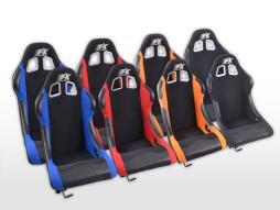 FK Sportsitze Auto Vollschalensitze Set Los Angeles in Motorsport-Optik [verschiedene Farben]