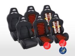 FK Sportsitze Auto Halbschalensitze Set Streetfighter in Motorsport-Optik [verschiedene Farben]